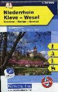 Cover-Bild zu Niederrhein, Kleve-Wesel, Kevelaer, Xanten - Bocholt, Nr. 61, Outdoorkarte Deutschland, 1:50 000. 1:50'000 von Hallwag Kümmerly+Frey AG (Hrsg.)