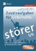 Cover-Bild zu Diemar-Haub, Sandra von: Zusatzaufgaben für Unterrichtsstörer 5-6