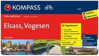 Cover-Bild zu Mertz, Peter: KOMPASS Fahrradführer Elsass, Vogesen. 1:50'000