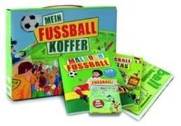 Cover-Bild zu Mein Fußballkoffer: Stickeratlas - 30 Trainingskarten - Poster - Malbuch