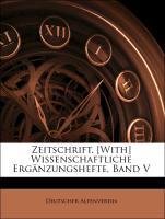 Cover-Bild zu Zeitschrift. [With] Wissenschaftliche Ergänzungshefte, Band V