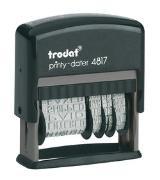 Cover-Bild zu TRODAT® Printy(TM) 4817 selbstfärbender Wort- und Datumstempel, 3,8 mm deutsch