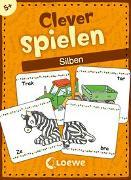 Cover-Bild zu Labuch, Kristin (Illustr.): Clever spielen - Silben