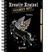 Cover-Bild zu Kreativ-Kratzel Pocket Art: Fantasy von Loewe Kratzel-Welt (Hrsg.)