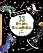 Cover-Bild zu Die besten 33 Kreativ-Kratzelbilder für Jungs von Loewe Kratzel-Welt (Hrsg.)