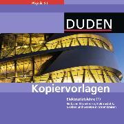 Cover-Bild zu Elektrizitätslehre 1. Kopiervorlagen auf CD-ROM von Gau, Barbara