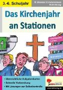 Cover-Bild zu Das Kirchenjahr an Stationen (eBook) von Mandzel, Waldemar