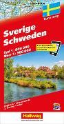 Cover-Bild zu Schweden Strassenkarte 1:800 000/1:900 000. 1:800'000 von Hallwag Kümmerly+Frey AG (Hrsg.)