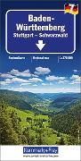Cover-Bild zu Baden Württemberg - Stuttgart, Schwarzwald, Nr. 7. 1:275'000 von Hallwag Kümmerly+Frey AG (Hrsg.)