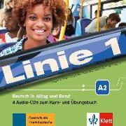 Cover-Bild zu Linie 1 A2. 4 Audio-CDs zum Kurs- und Übungsbuch von Dengler, Stefanie