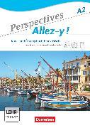 Cover-Bild zu Perspectives - Allez-y !, A2, Kurs- und Übungsbuch mit Lösungsheft und Vokabeltaschenbuch, Inkl. komplettem Hörmaterial (2 CDs) und Video-DVD von Delacroix, Anne