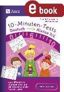 Cover-Bild zu 10-Minuten-Tests Deutsch - Klasse 3/4 (eBook) von Herrler, Dörthe