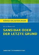 Cover-Bild zu Sansibar oder der letzte Grund von Alfred Andersch von Andersch, Alfred