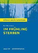 Cover-Bild zu Im Frühling sterben von Ralf Rothmann