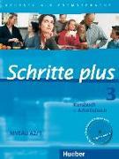 Cover-Bild zu Schritte plus 3. Kursbuch + Arbeitsbuch mit Audio-CD zum Arbeitsbuch von Hilpert, Silke