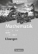 Cover-Bild zu Bigalke/Köhler: Mathematik, Berlin - Ausgabe 2010, Grundkurs 3. Halbjahr, Band ma-3, Lösungen zum Schülerbuch von Bigalke, Anton