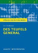 Cover-Bild zu Des Teufels General von Carl Zuckmayer. Textanalyse und Interpretation mit ausführlicher Inhaltsangabe und Abituraufgaben mit Lösungen (eBook) von Zuckmayer, Carl