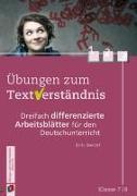 Cover-Bild zu Übungen zum Textverständnis: Klasse 7/8 von Seedorf, Karla