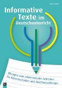 Cover-Bild zu Informative Texte im Deutschunterricht von Seedorf, Karla