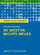 Cover-Bild zu Im Westen nichts Neues von Erich Maria Remarque (eBook) von Remarque, Erich Maria