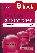 Cover-Bild zu Deutsch an Stationen Spezial Rechtschreibung 7-8 (eBook) von Röser, Winfried