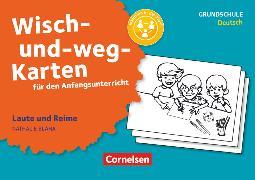 Cover-Bild zu Wisch-und-weg-Karten für den Anfangsunterricht, Deutsch, Laute und Reime (3. Auflage), 32 Bildkarten mit Begleitheft von Bláha, Nathalie