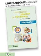 Cover-Bild zu Arbeitsblätter mit eingetragenen Lösungen Arbeitsbuch Haushalt und Ernährung von Schlieper, Cornelia A.