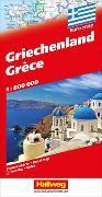 Cover-Bild zu Hallwag Kümmerly+Frey AG: Griechenland Strassenkarte. 1:700'000