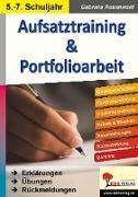Cover-Bild zu Aufsatztraining & Portfolioarbeit (eBook) von Rosenwald, Gabriela
