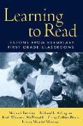 Cover-Bild zu Learning to Read von Allington, Richard L. (Hrsg.)