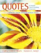 Cover-Bild zu Quotes to Inspire Great Reading Teachers: A Reflective Tool for Advancing Students' Literacy von Block, Cathy Collins