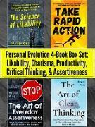 Cover-Bild zu Personal Evolution 4-Book Box Set: Likability, Charisma, Productivity, Critical Thinking, & Assertiveness (eBook) von King, Patrick