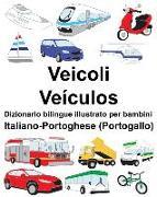 Cover-Bild zu Italiano-Portoghese (Portogallo) Veicoli/Veículos Dizionario Bilingue Illustrato Per Bambini