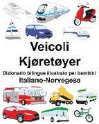 Cover-Bild zu Italiano-Norvegese Veicoli/Kjøretøyer Dizionario Bilingue Illustrato Per Bambini
