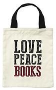 Cover-Bild zu libri_x LOVE PEACE BOOKS. Büchertasche