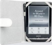 Cover-Bild zu Odyssey Schutzhülle Kunstleder weiss für Sony PRS-T1