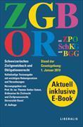 Cover-Bild zu ZGB/OR und ZPO, SchKG und BGG. Schweizerisches Zivilgesetzbuch und Obligationenrecht. Doppelband