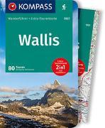Cover-Bild zu Heitzmann, Wolfgang: KOMPASS Wanderführer Wallis, Oberwallis. 1:50'000
