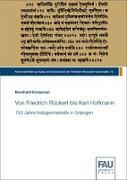 Cover-Bild zu Forssman, Bernhard: Von Friedrich Rückert bis Karl Hoffmann