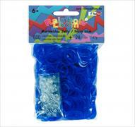 Cover-Bild zu Rainbow Loom Gummibänder Marineblau Jelly