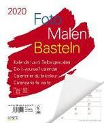 Cover-Bild zu Foto-Malen-Basteln Bastelkalender weiß Notice groß 2020