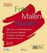 Cover-Bild zu Foto-Malen-Basteln Bastelkalender beige 2020