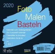 Cover-Bild zu Foto-Malen-Basteln Bastelkalender schwarz quer 2020