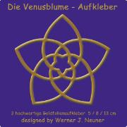 Cover-Bild zu Die Venusblume - Goldfolienaufkleber 3er Set