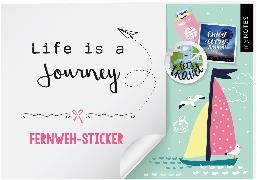 Cover-Bild zu myNOTES Life is a Journey - Stickerheft mit Reise- und Fernweh-Stickern