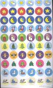 Cover-Bild zu Bilderklebeformen. Sonne, Mond, Sterne, Weihnachtszeit, Tiere