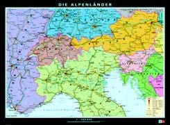 Cover-Bild zu Alpenländer. physisch/politisch. 1:55'000