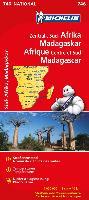Cover-Bild zu Zentral-, Süd-Afrika, Madagaskar / Afrique Centre et Sud, Madagascar. 1:4'000'000