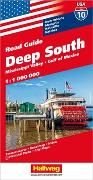 Cover-Bild zu Hallwag Kümmerly+Frey AG (Hrsg.): Deep South, Mississippi Valley, Gulf of Mexico Strassenkarte 1:1 Mio., Road Guide Nr. 10. 1:1'000'000