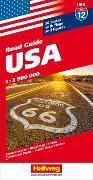 Cover-Bild zu Hallwag Kümmerly+Frey AG (Hrsg.): USA Strassenkarte 1:3,8 Mio. Road Guide. 1:3'800'000
